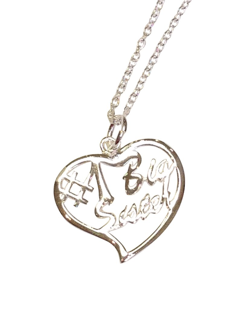 811x1024 Big Sister Silver Heart Necklace Key Your Spirit, Llc