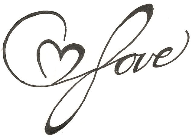 635x458 Drawn Hearts Design Drawing