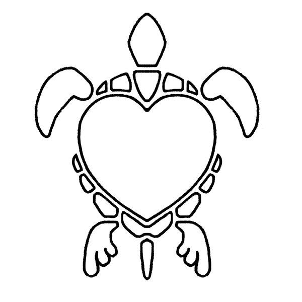 600x600 Heart Turtle Line Art By Smocksinabox