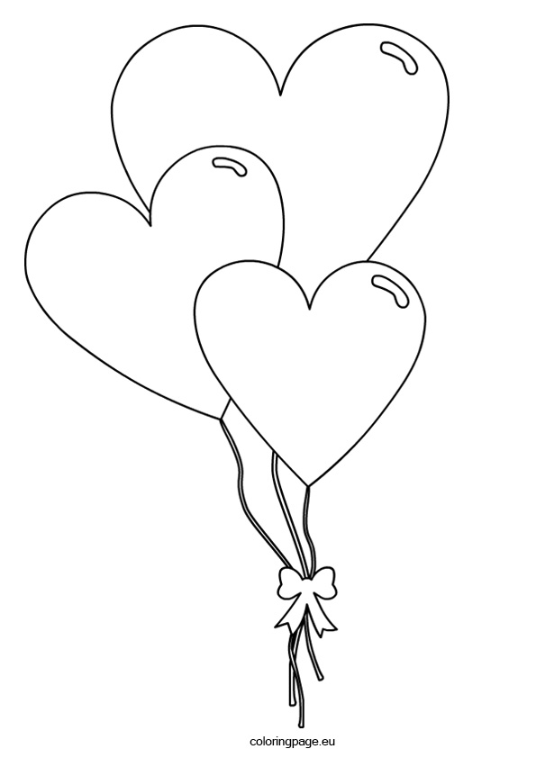 595x842 Heart Shaped Clipart Coloring