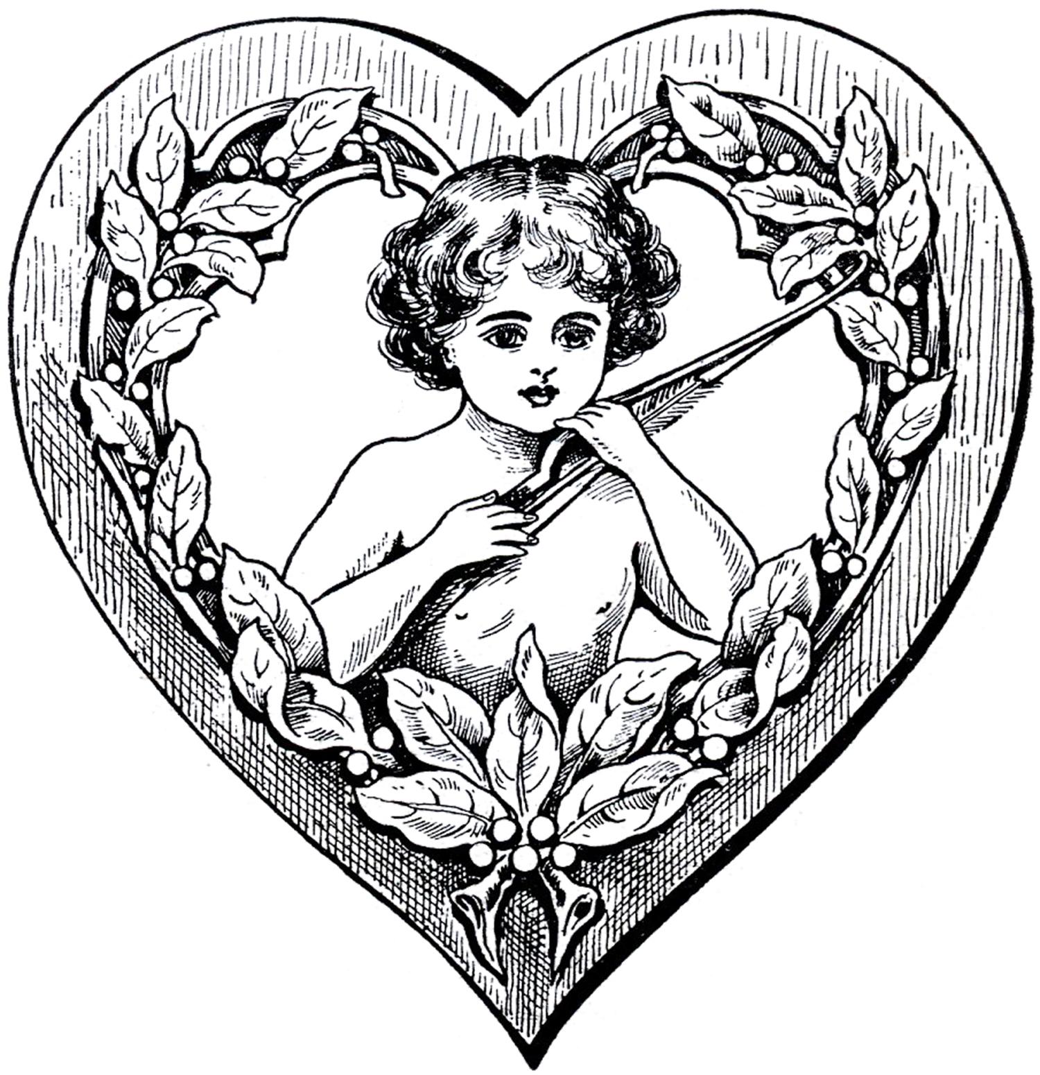 1500x1550 Cupid Heart Clip Art