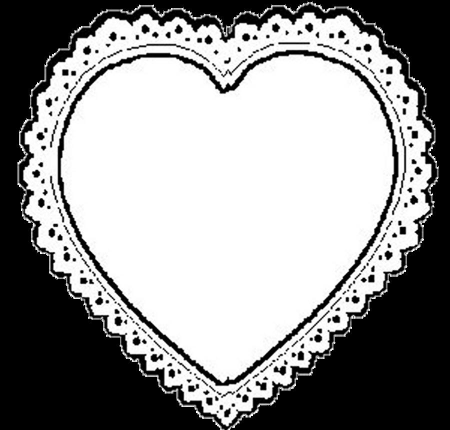 900x861 Lace Heart Clipart