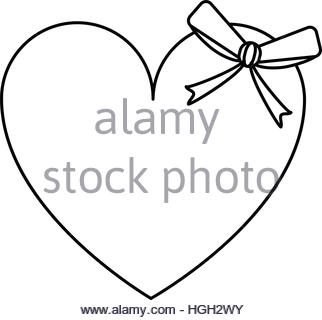 322x320 Love Heart Arrow Outline Drawing, Valentine Symbol Stock Vector