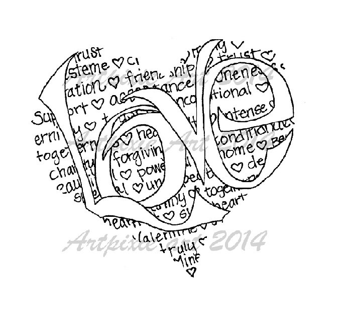 Heart Line Drawing Clip Art At Getdrawings Com