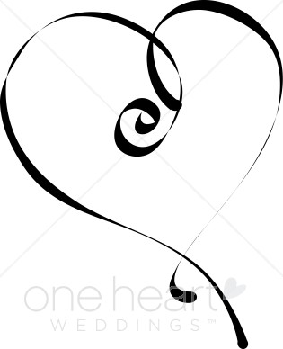 315x388 Calligraphy Heart Clipart