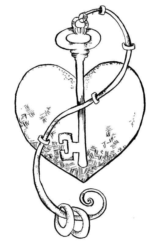 528x800 Lock And Key Coloring Pages