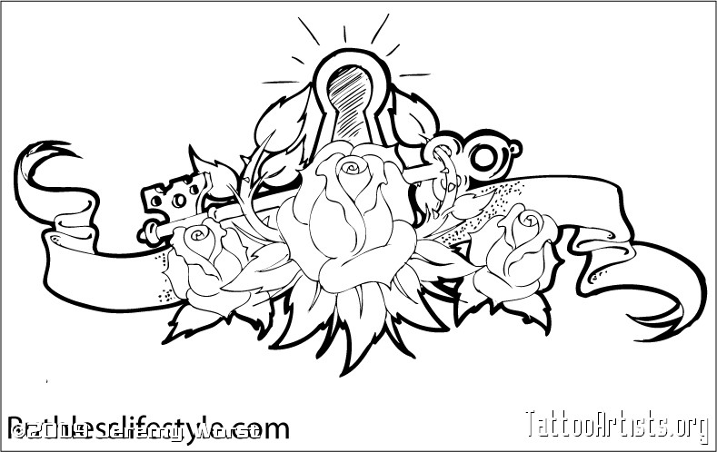 789x498 Lock And Key Tattoo Outline By Heykristinamaria