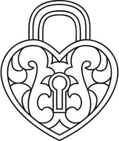 236x280 Best Photos Of Lock Coloring Page