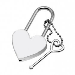 251x251 Blank Sublimation Metal Heart Lock With Key Amazon.co.uk Diy Amp Tools