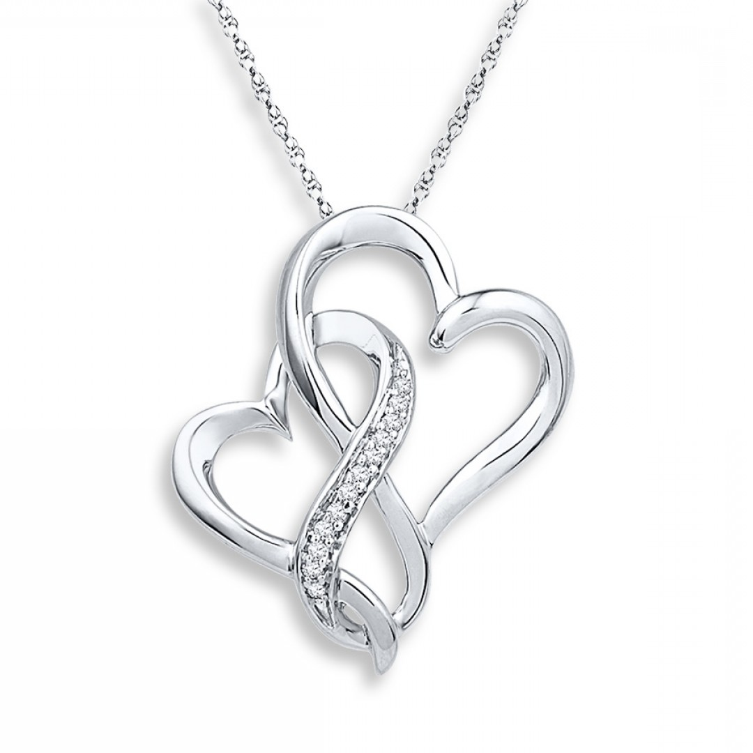 1080x1080 Heart Necklace With Charms Inside Thecolorbars