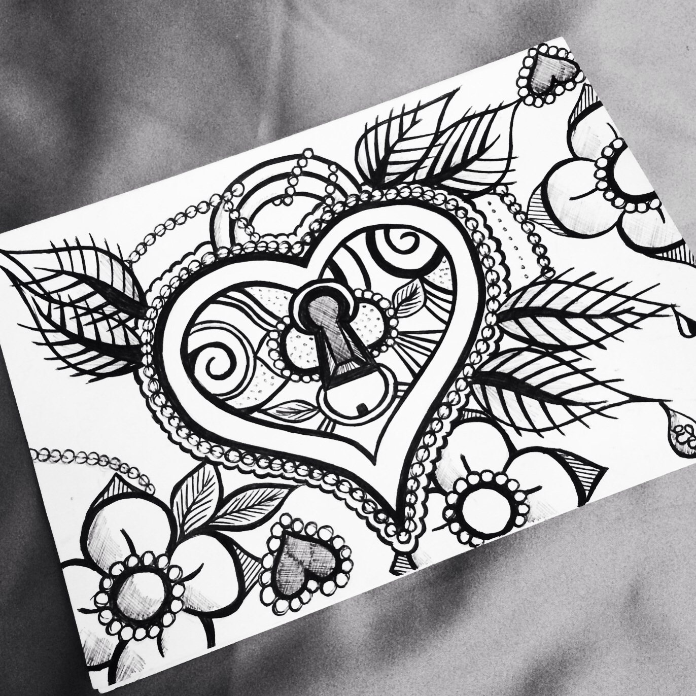 1372x1372 Heart Locket Drawing . Doodles And Such. Heart