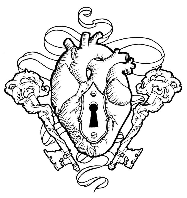 Heart lock drawing at free for personal for Lady lovely locks coloring pages