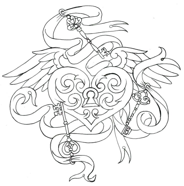 736x745 Stunning Key Coloring Page Best Of Together With Lock Outline