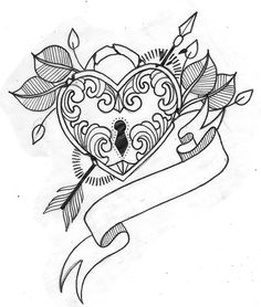 236x278 More Like Heart Locket Tattoo Design By Charlotte