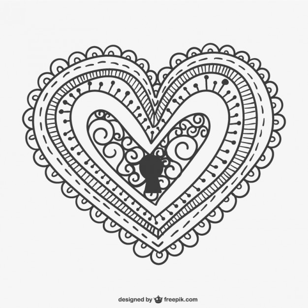 626x626 Decorative Heart Lock Vector Free Download