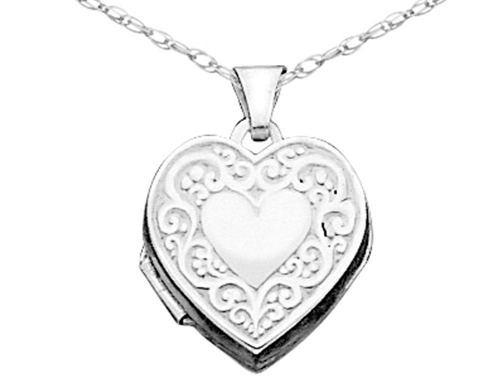1000x768 Gem Amp Harmony Rakuten Heart Locket In Sterling Silver With Chain