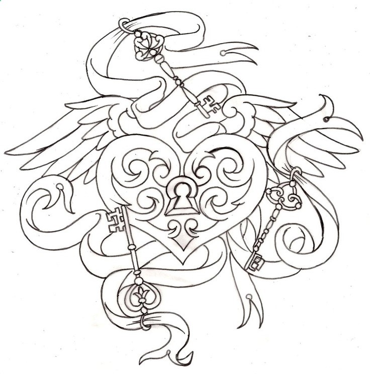 736x745 Key To My Heart Locket Tattoo 6 By ~metacharis