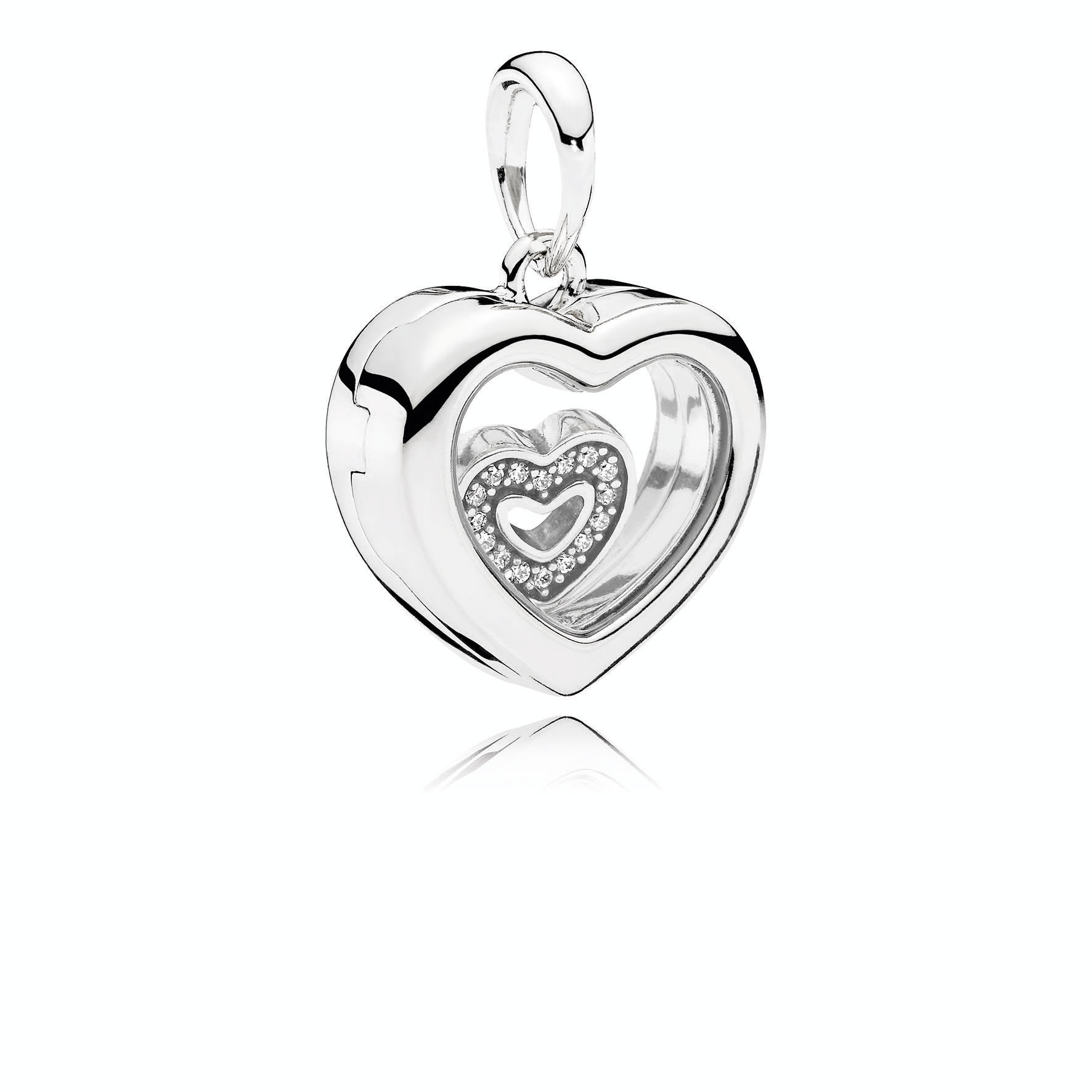 clogau half locket silver rose lockets sterling qvc uk gold necklace heart product