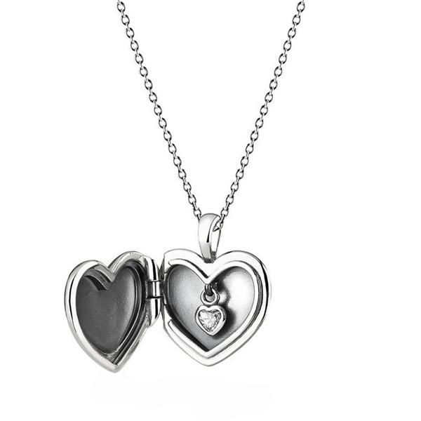 600x600 Pandora Love Locket Necklace, Sterling Silver 390355cz