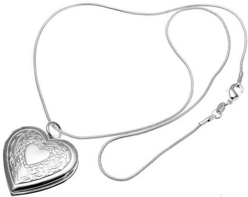 832x663 Shoppers Paradise Open Heart Photo Floral Alloy Locket Price
