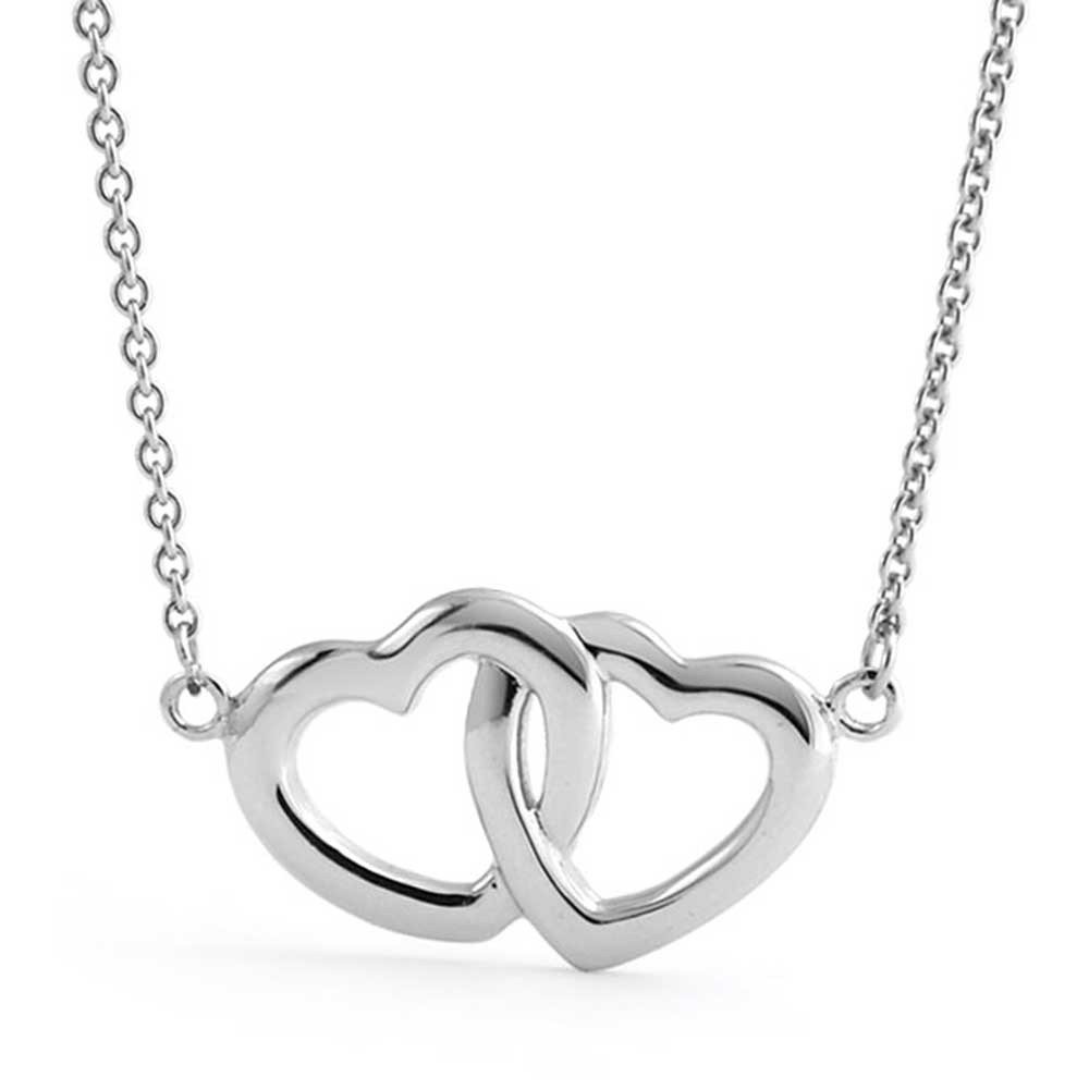 1000x1000 925 Sterling Silver Interlocking Two Hearts Necklace 16in