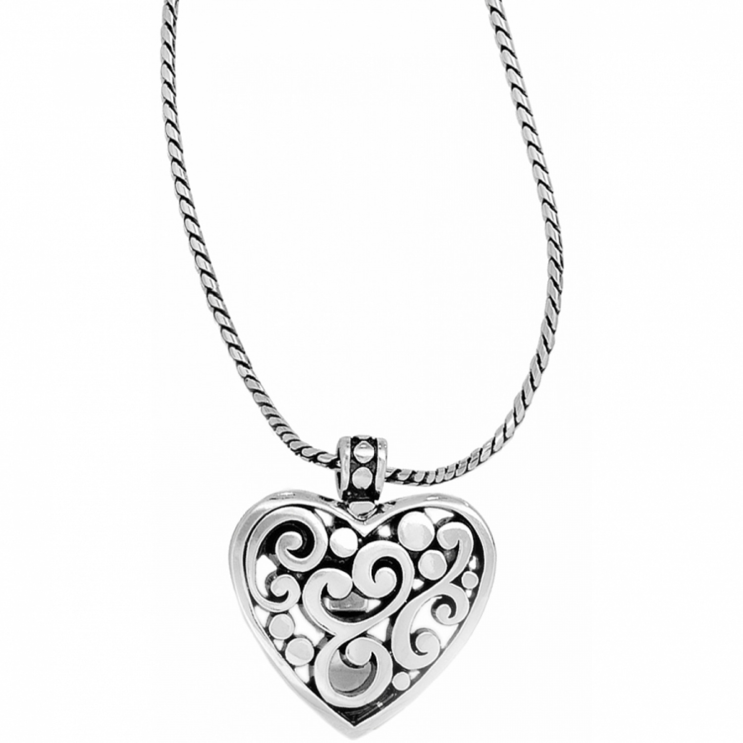 1500x1500 Contempo Contempo Heart Badge Clip Necklace Necklaces