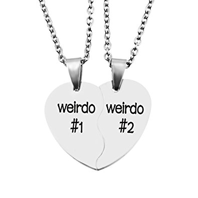 395x395 Mjartoria Split Heart Weirdo 1 2 Best Friends Pendant Friendship