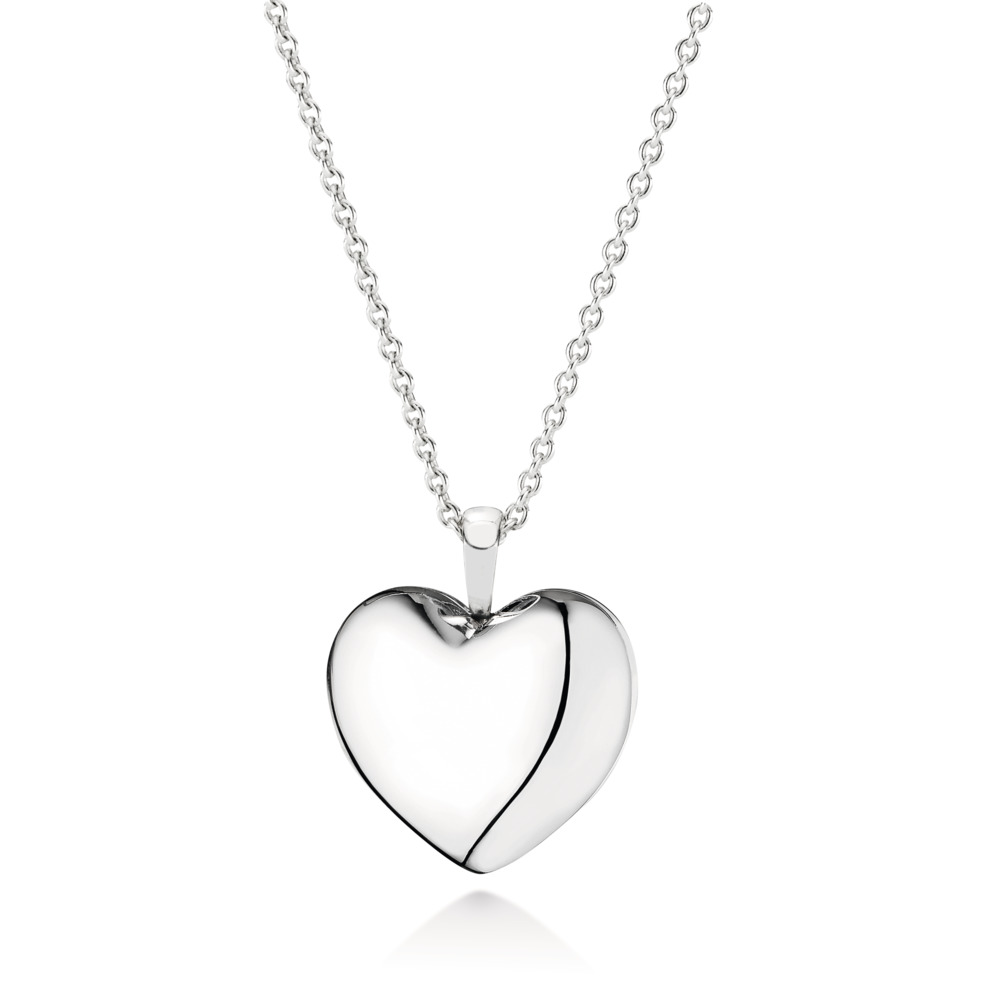 1000x1000 Plain Heart Necklace Pendant