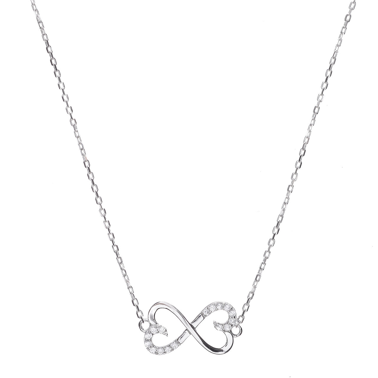 1280x1280 Sterling Silver Cz Infinity Heart Necklaces