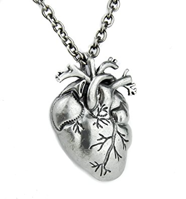370x395 Anatomical Heart Pendant Realistic Oddities Pendant Amazon.ca