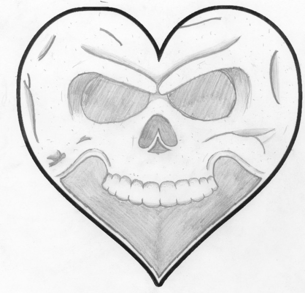 1024x986 Drawing Of A Heart How To Draw A Heart With Flames A Love Heart