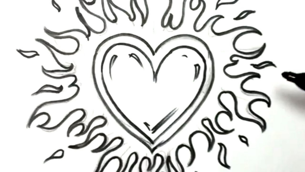 1024x576 Awesome Drawings Of Hearts Wings How To Draw A Heart
