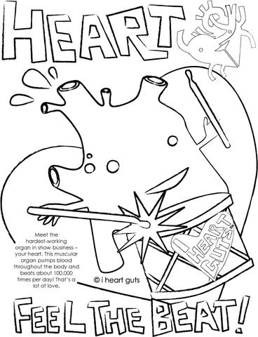 368x480 Heart Coloring Page I Heart Guts