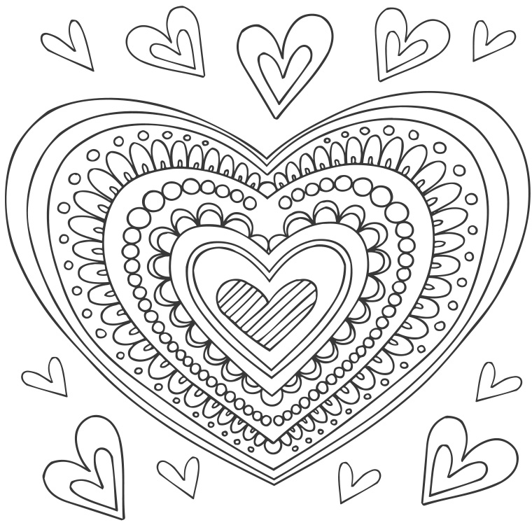 760x760 Heart Mandalas