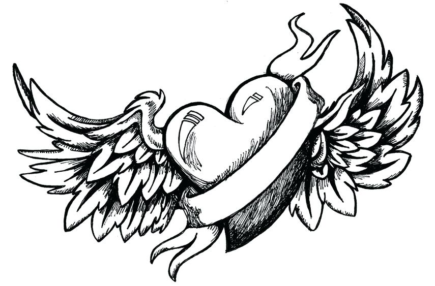 855x563 Awesome Heart Drawings Cfresearch.co