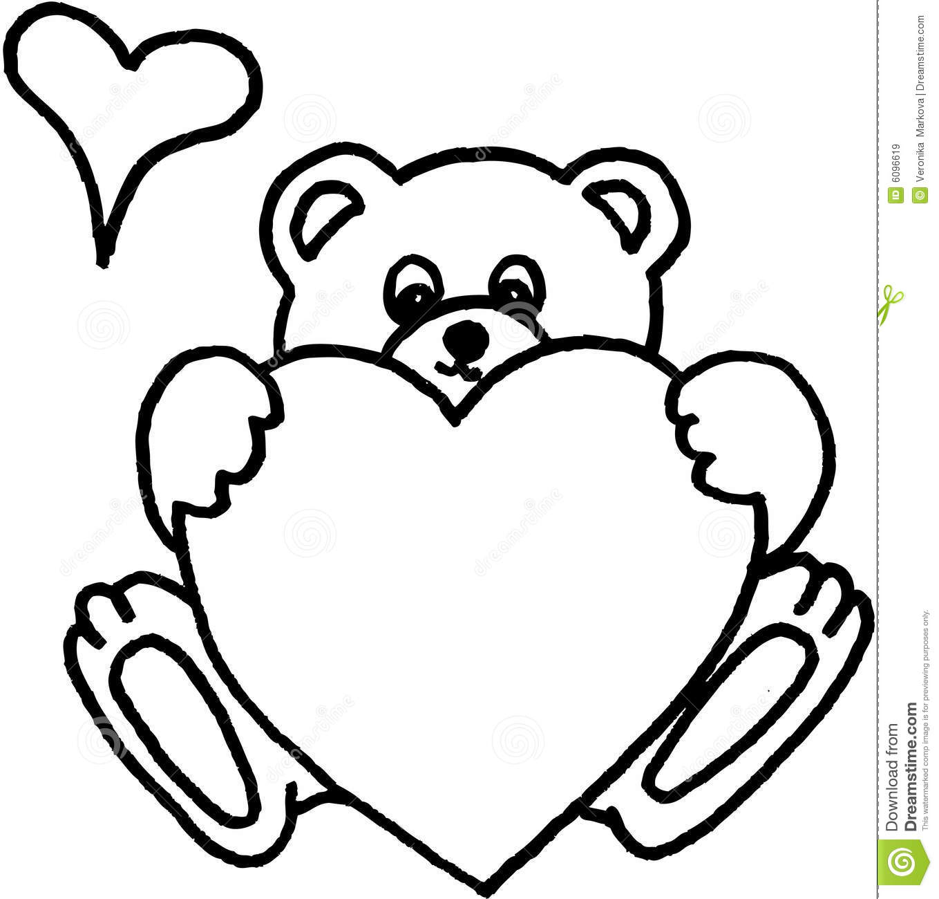 1359x1300 Drawn Teddy Bear Heart Drawing