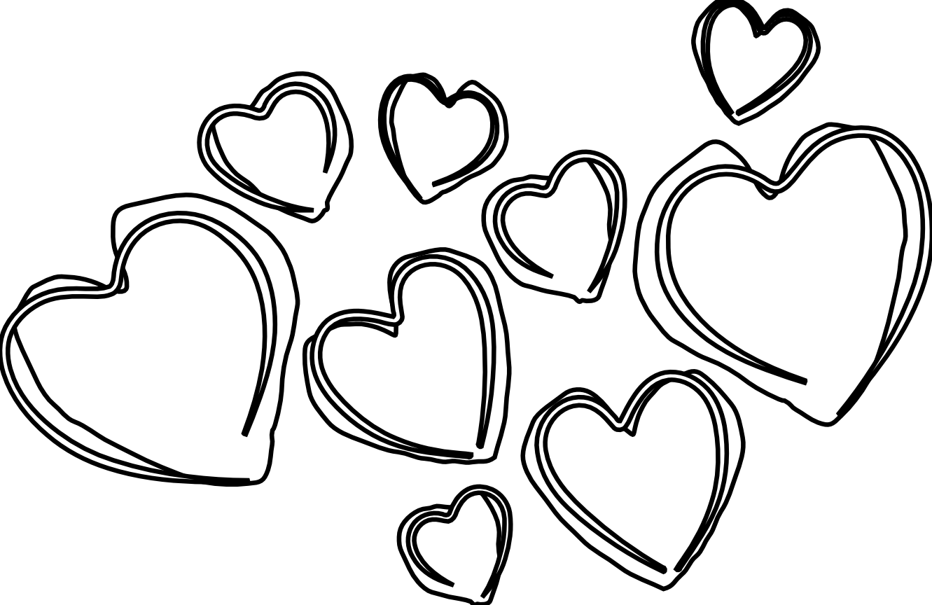 1331x864 Heart Outline Clipart Black And White Collection