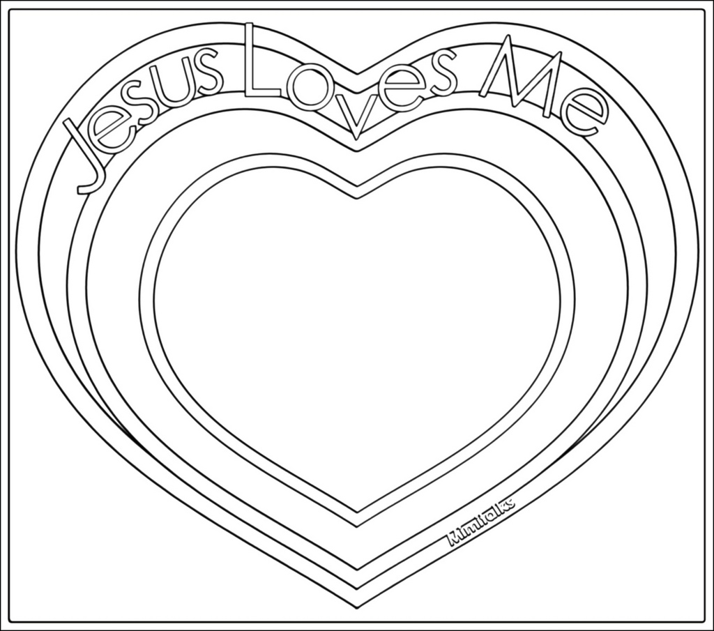 1024x905 Jesus Loves Me Digital Heart Outline For Valentine'S