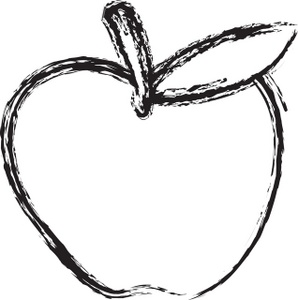 298x300 Heart Outline Clipart Black And White For Teachers