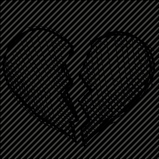 512x512 Drawn Broken Heart Breakup