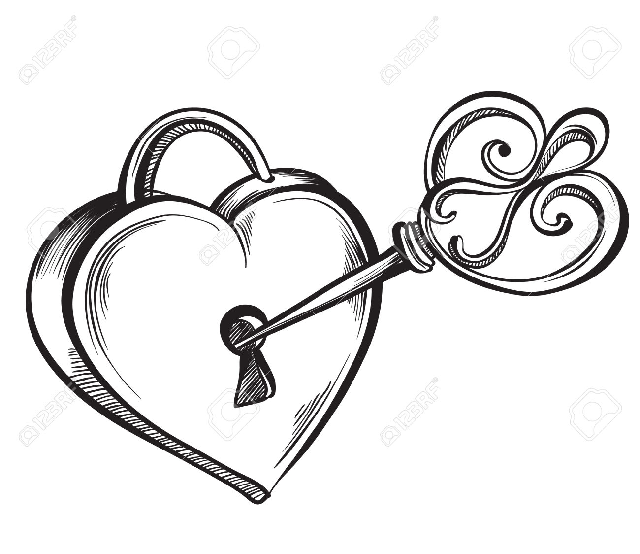 1300x1124 Drawn Heart Sketch