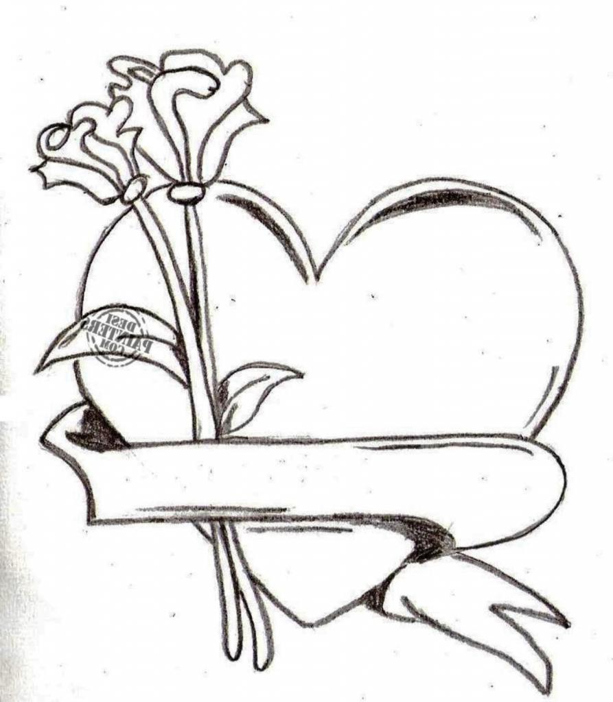 893x1024 Heart Pencil Sketch Heart Pencil Sketch