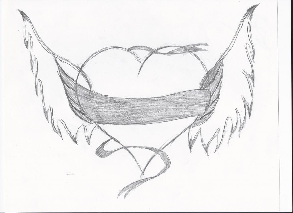 1024x744 Pencil Sketches Of Hearts Pencil Art Heart Pencil Sketch Drawing