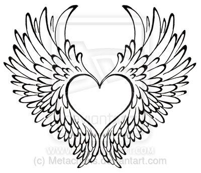 400x346 Drawn Heart Wing