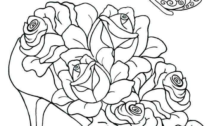 750x425 Unique Coloring Pages Of Roses And Hearts Crayola Photo Amazing