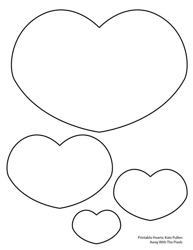 640x828 6 Free Printable Heart Templates Heart Template, Template And Craft