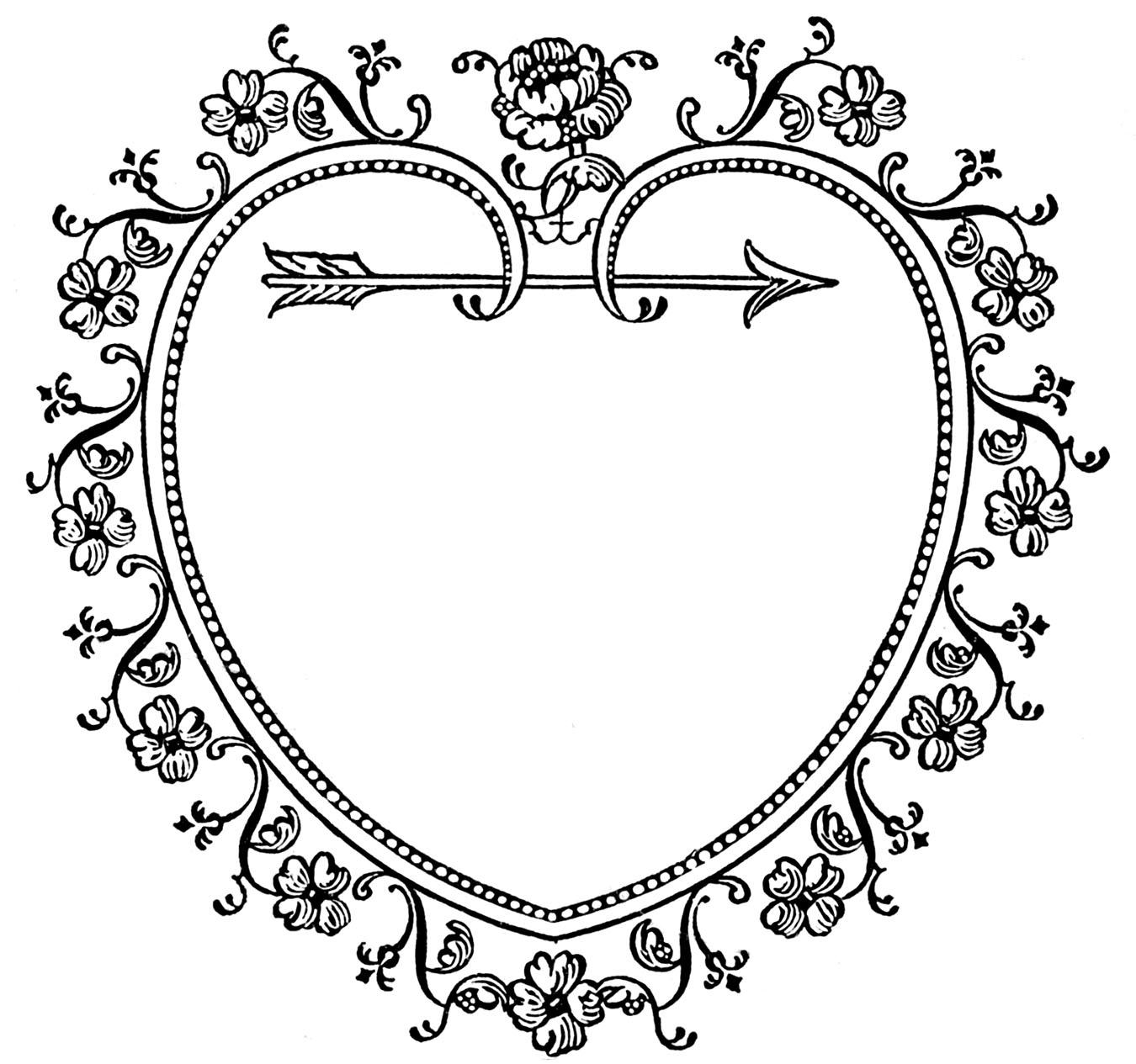 1350x1265 Heart Line Drawing Clip Art