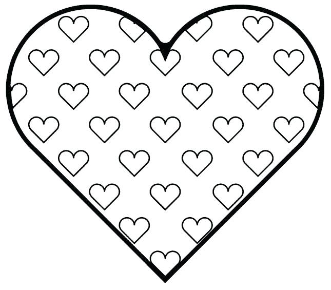 645x565 Heart Shape Coloring Pages Shape Coloring Page Unbelievable Heart