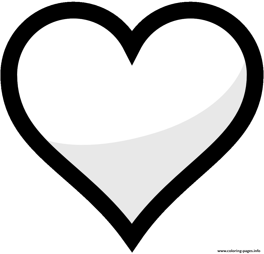 1111x1070 Heart Shape Emoji Coloring Pages Printable