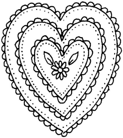 427x480 Heart Shaped Ornament Coloring Page Free Printable Coloring Pages
